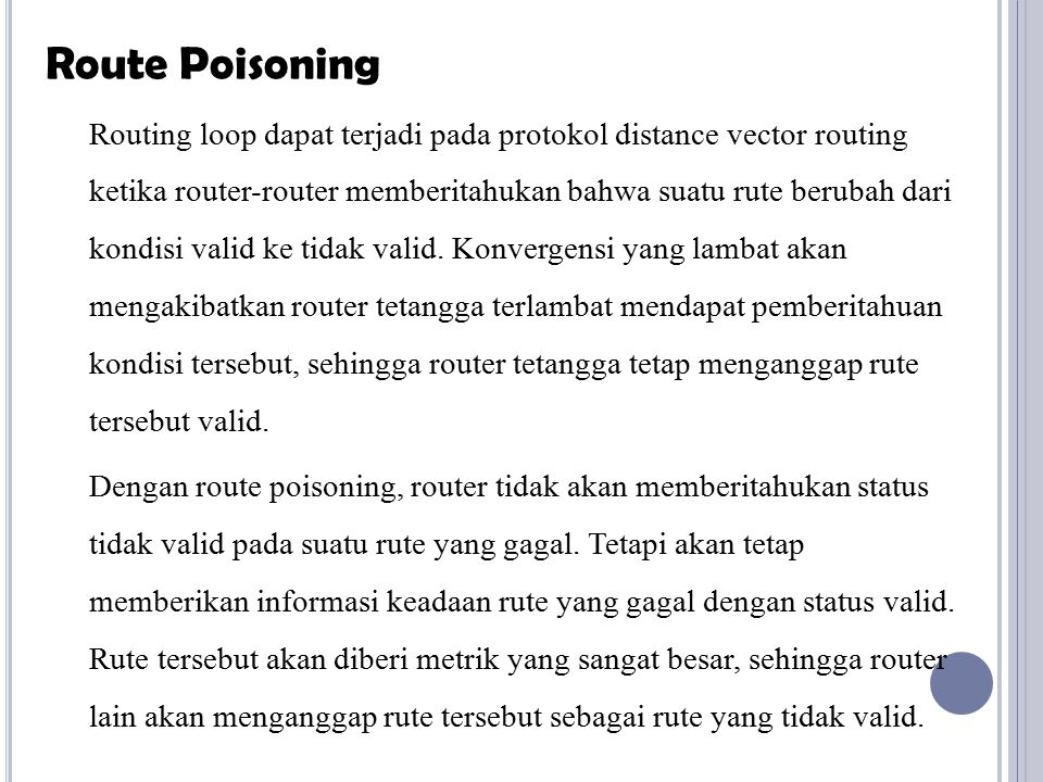 Route Poisoning