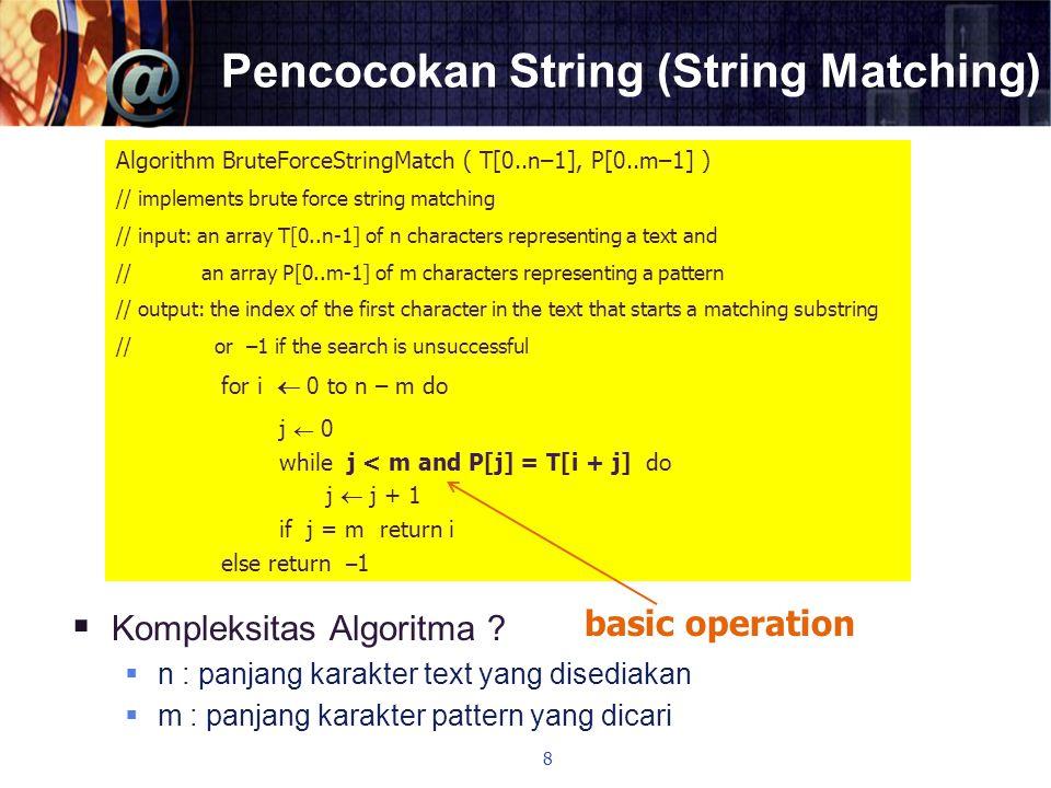 Pencocokan String (String Matching)