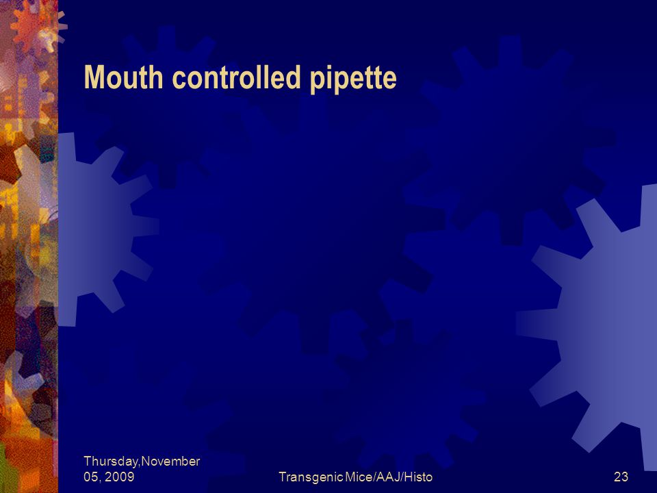 Mouth controlled pipette