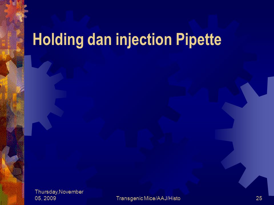 Holding dan injection Pipette