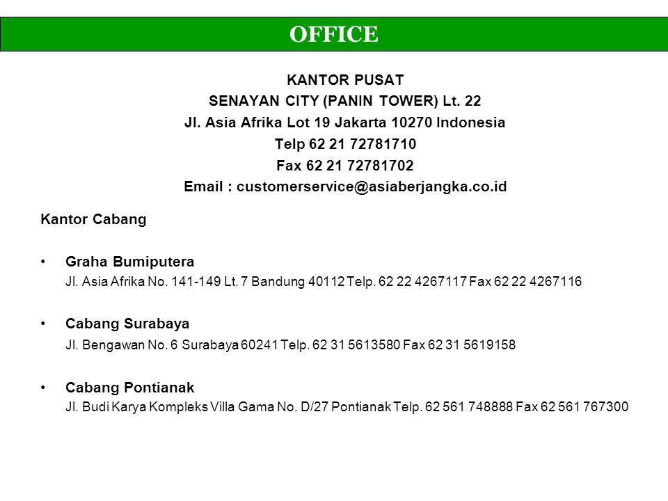 OFFICE KANTOR PUSAT SENAYAN CITY (PANIN TOWER) Lt. 22