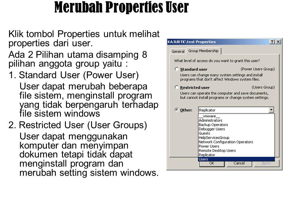 Merubah Properties User