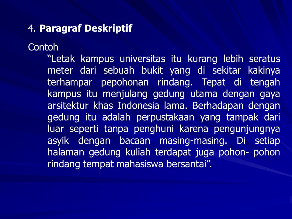 4. Paragraf Deskriptif Contoh.