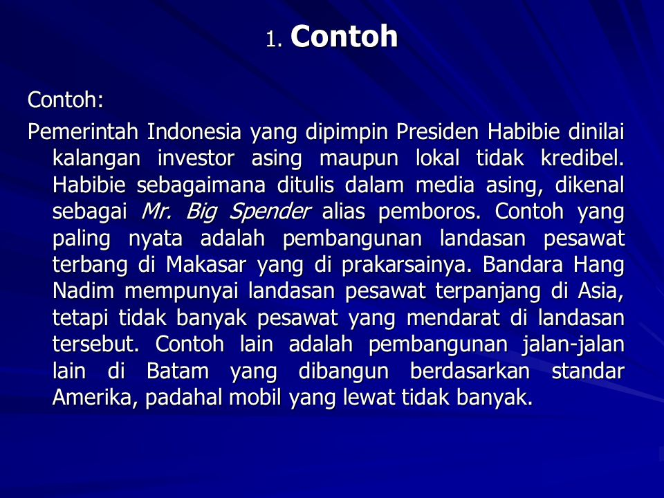 1. Contoh
