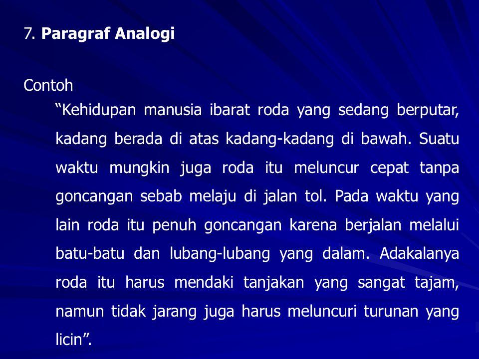 7. Paragraf Analogi Contoh.