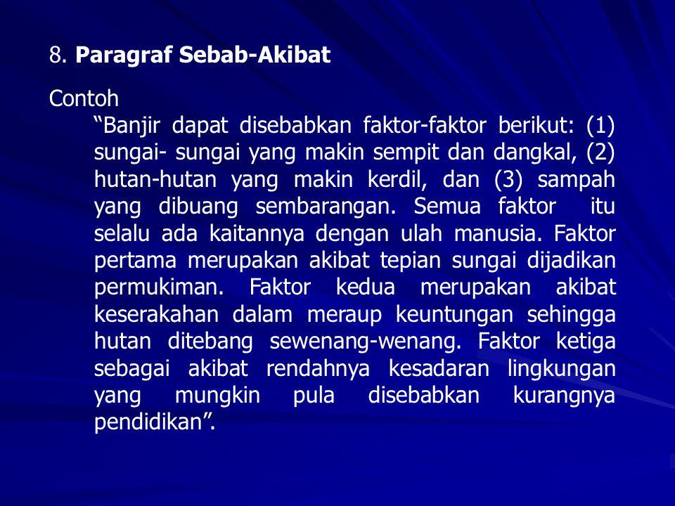 8. Paragraf Sebab-Akibat