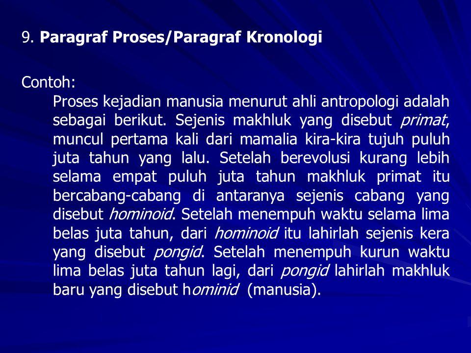 9. Paragraf Proses/Paragraf Kronologi