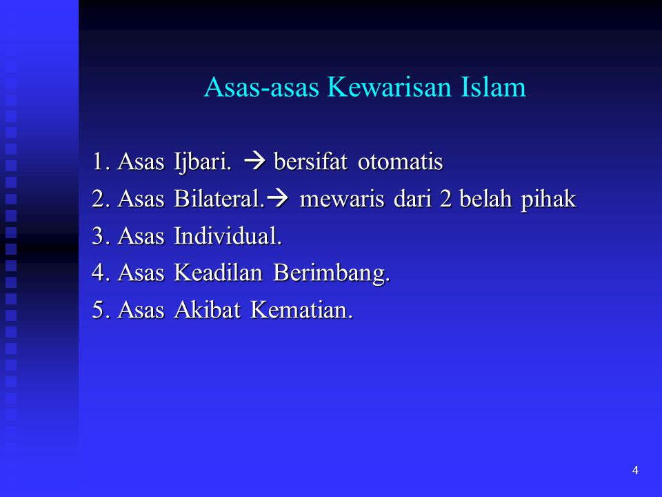 Asas-asas Kewarisan Islam