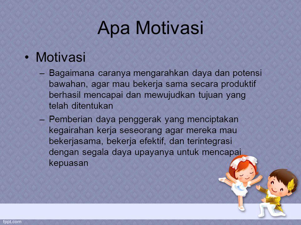 Apa Motivasi Motivasi.