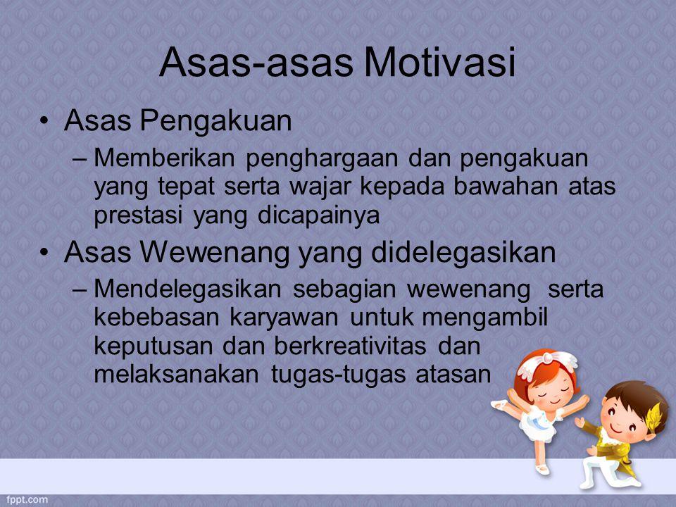 Asas-asas Motivasi Asas Pengakuan Asas Wewenang yang didelegasikan