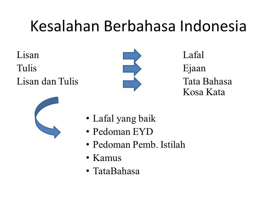 Kesalahan Berbahasa Indonesia
