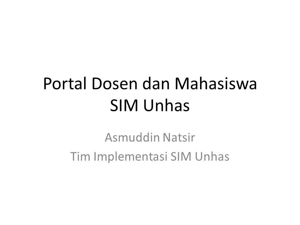 Portal Dosen dan Mahasiswa SIM Unhas