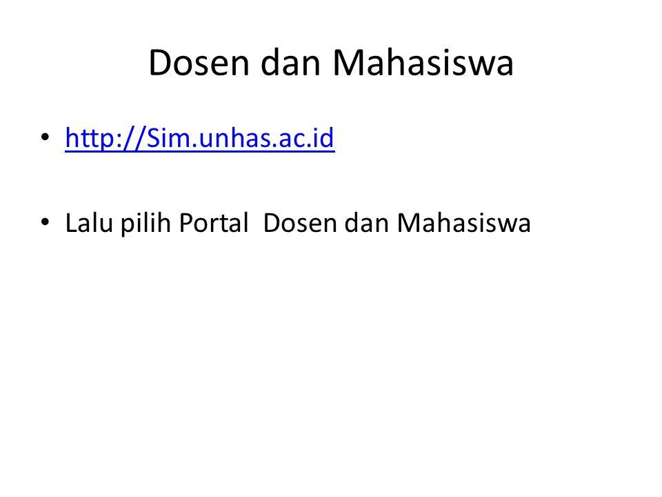Dosen dan Mahasiswa http://Sim.unhas.ac.id