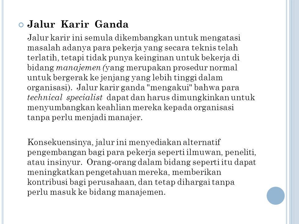 Jalur Karir Ganda