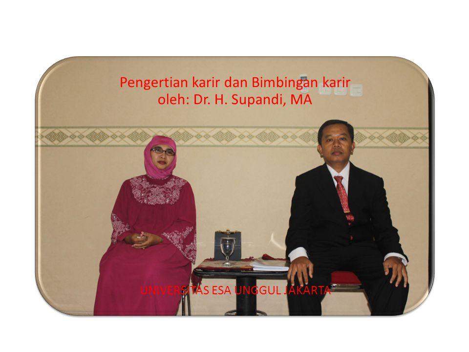 Pengertian karir dan Bimbingan karir oleh: Dr. H. Supandi, MA