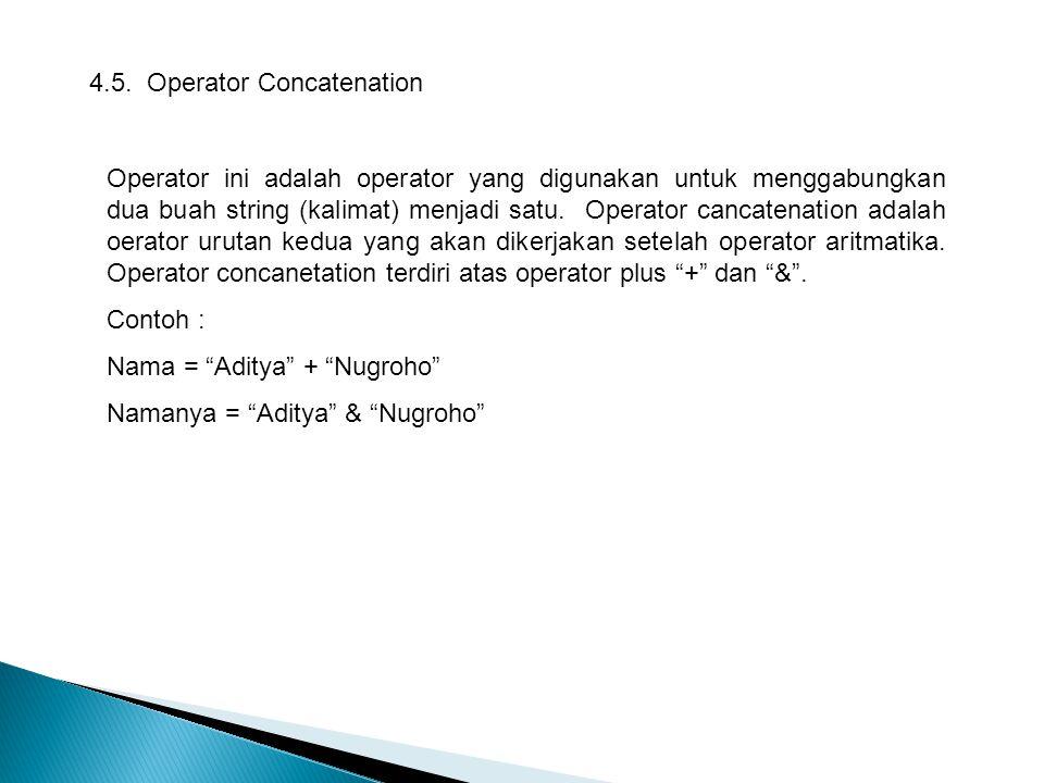 4.5. Operator Concatenation