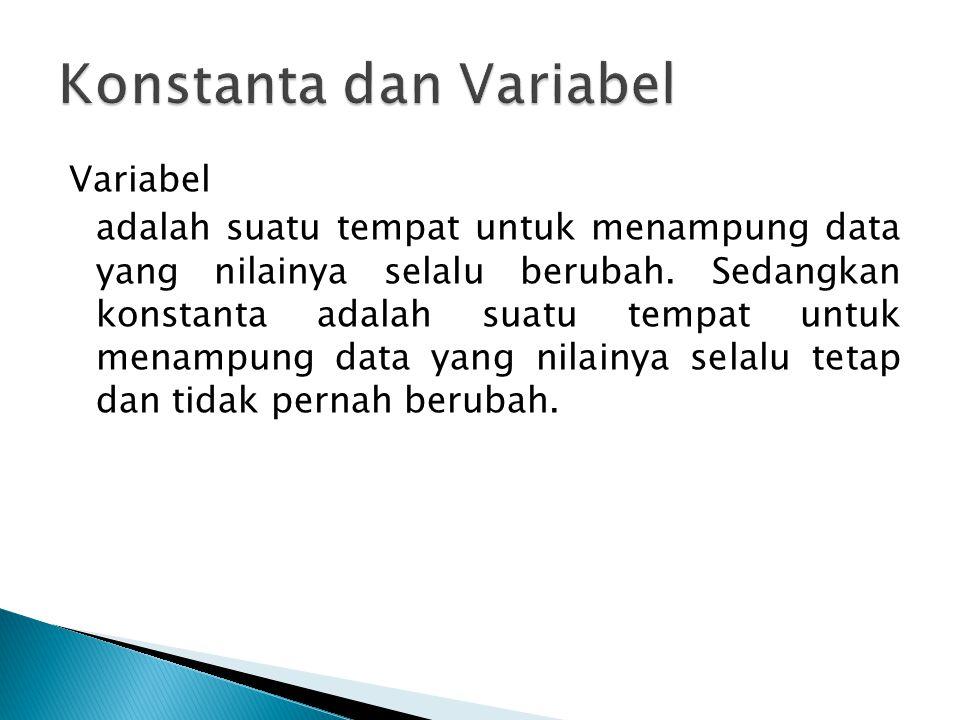 Konstanta dan Variabel