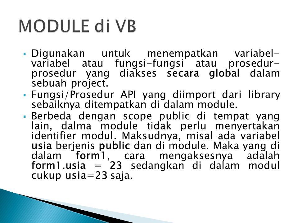MODULE di VB