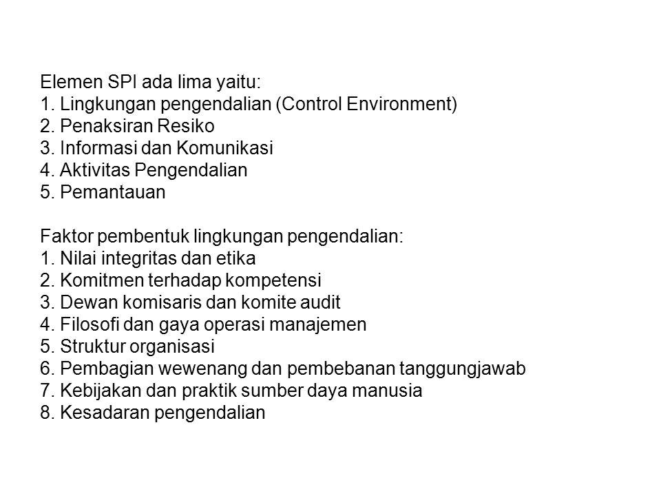 Elemen SPI ada lima yaitu: 1