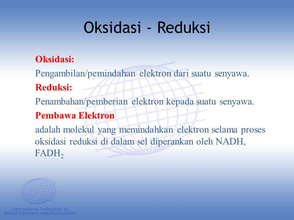 Oksidasi - Reduksi Oksidasi:
