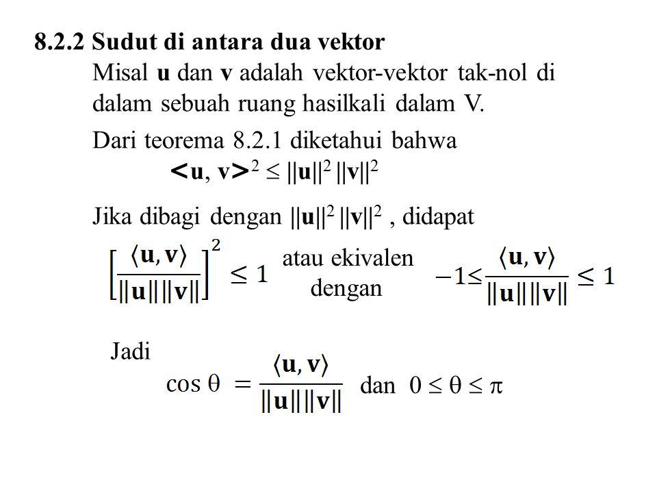 8.2.2 Sudut di antara dua vektor