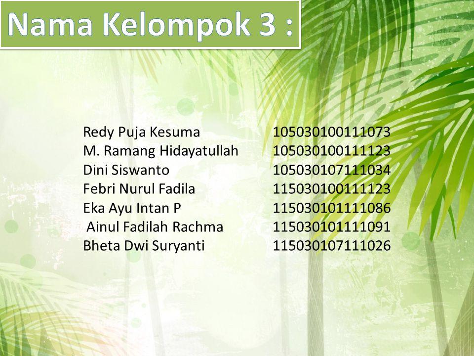 Nama Kelompok 3 :