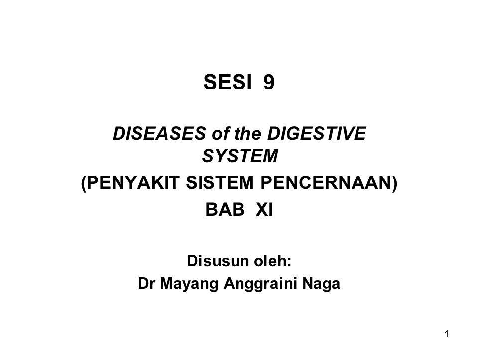 SESI 9 DISEASES of the DIGESTIVE SYSTEM (PENYAKIT SISTEM PENCERNAAN)