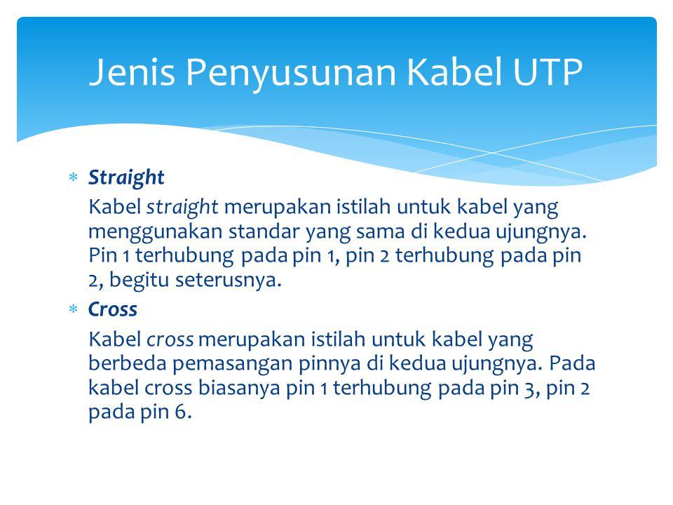 Jenis Penyusunan Kabel UTP