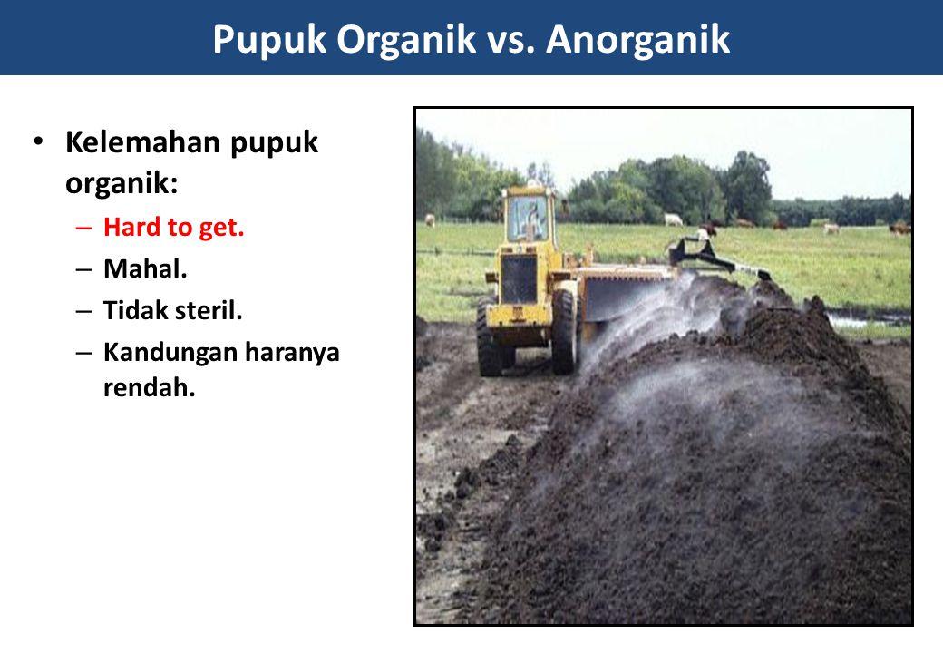 Pupuk Organik vs. Anorganik