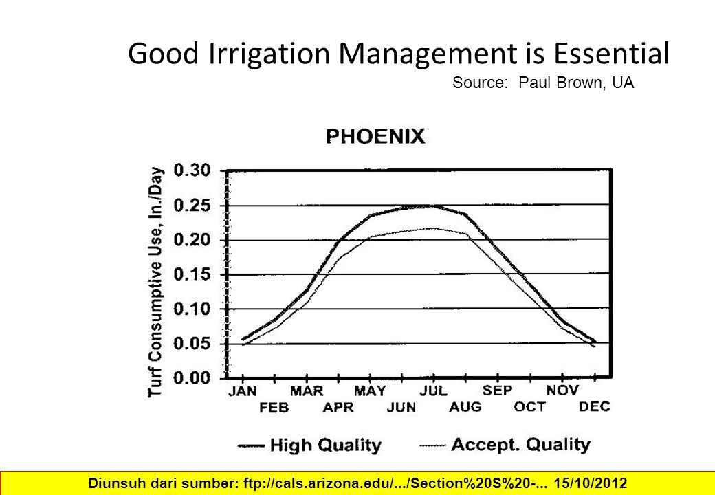 Good Irrigation Management is Essential