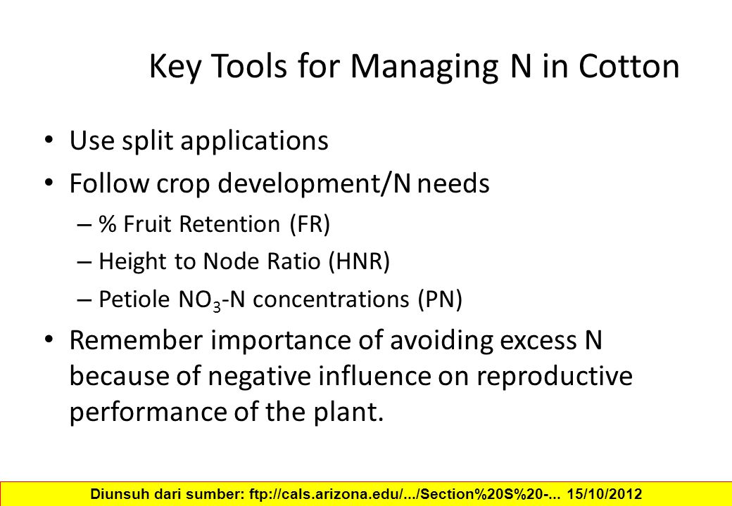 Key Tools for Managing N in Cotton