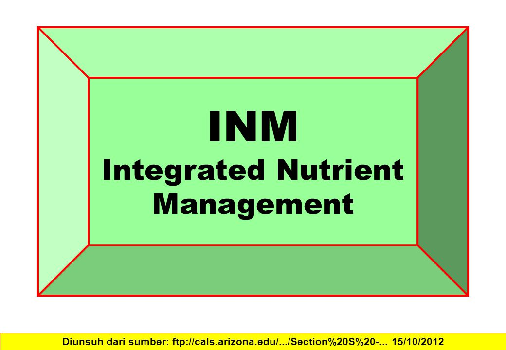 INM Integrated Nutrient Management