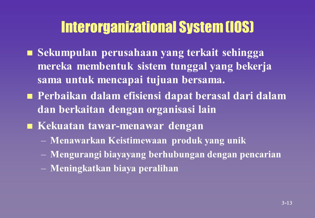 Interorganizational System (IOS)