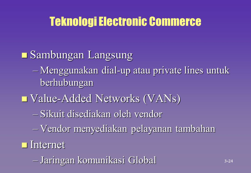 Teknologi Electronic Commerce