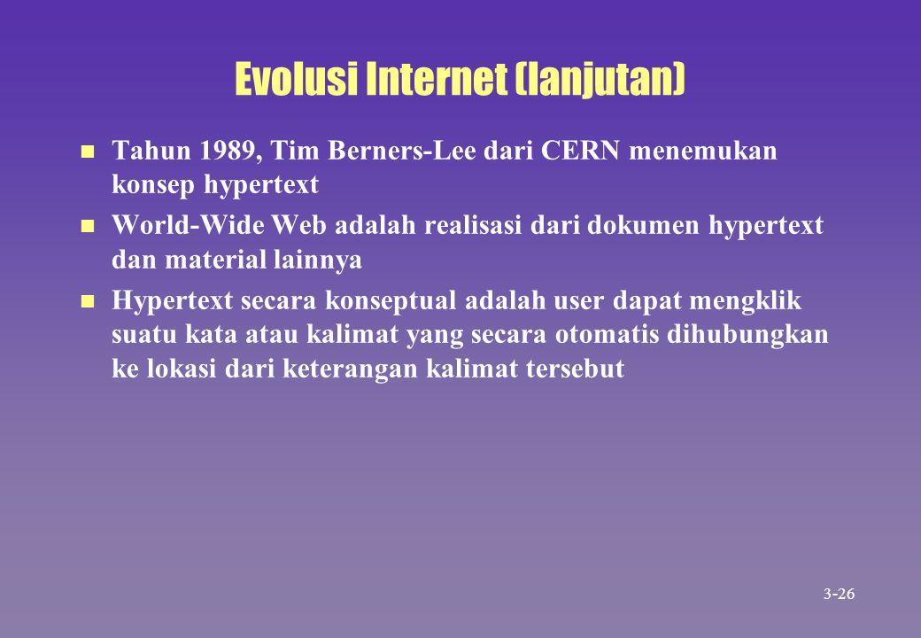 Evolusi Internet (lanjutan)