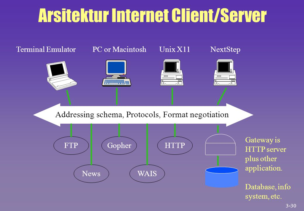 Arsitektur Internet Client/Server