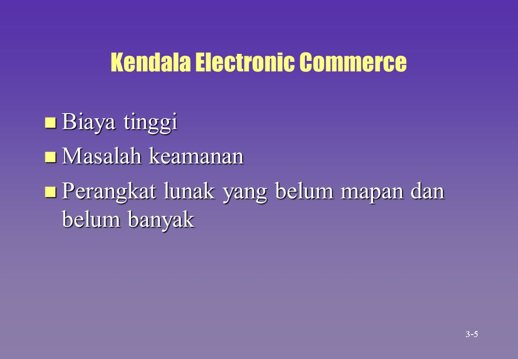 Kendala Electronic Commerce