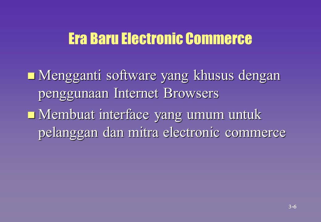 Era Baru Electronic Commerce
