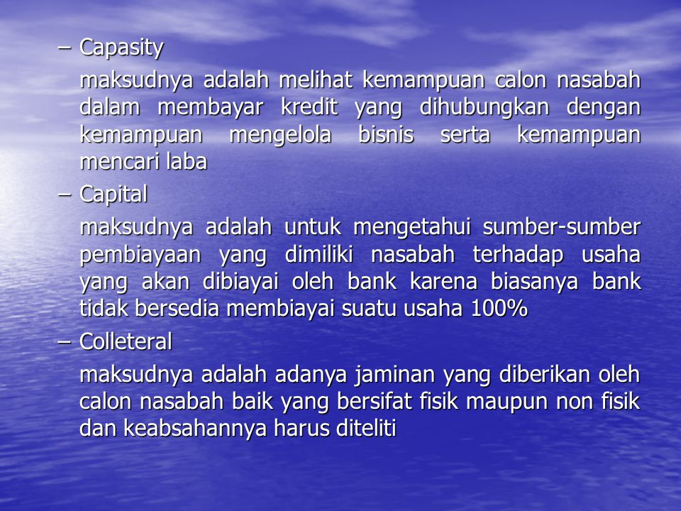 Capasity