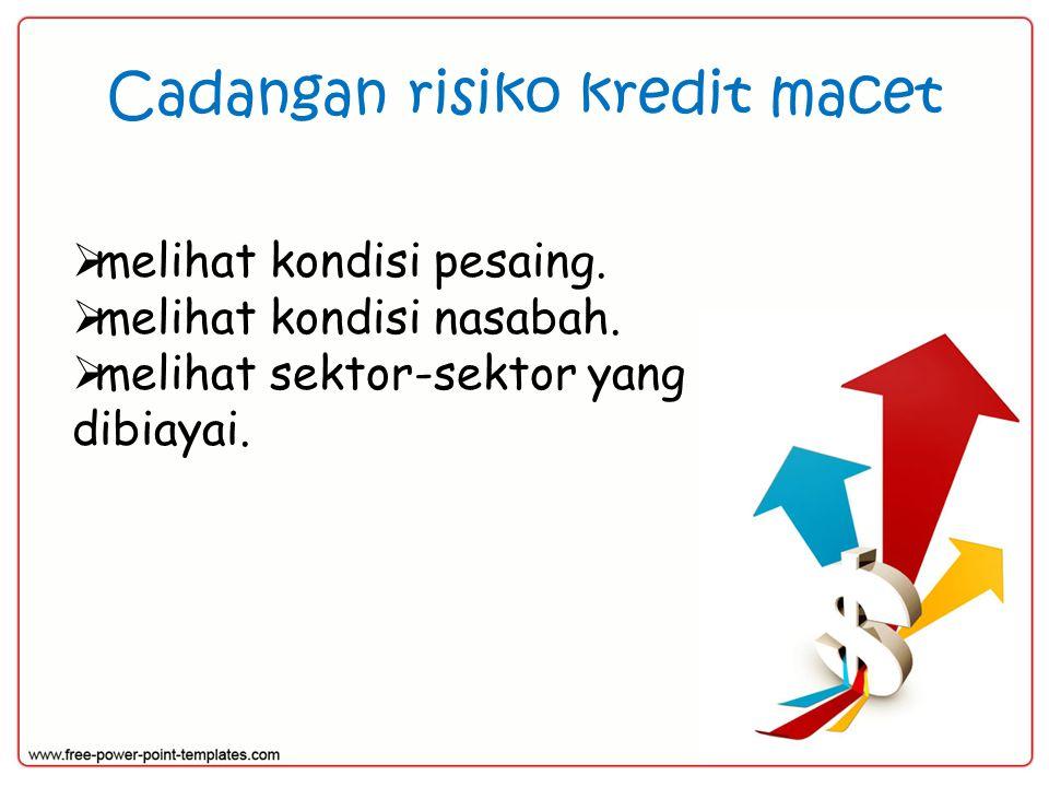 Cadangan risiko kredit macet