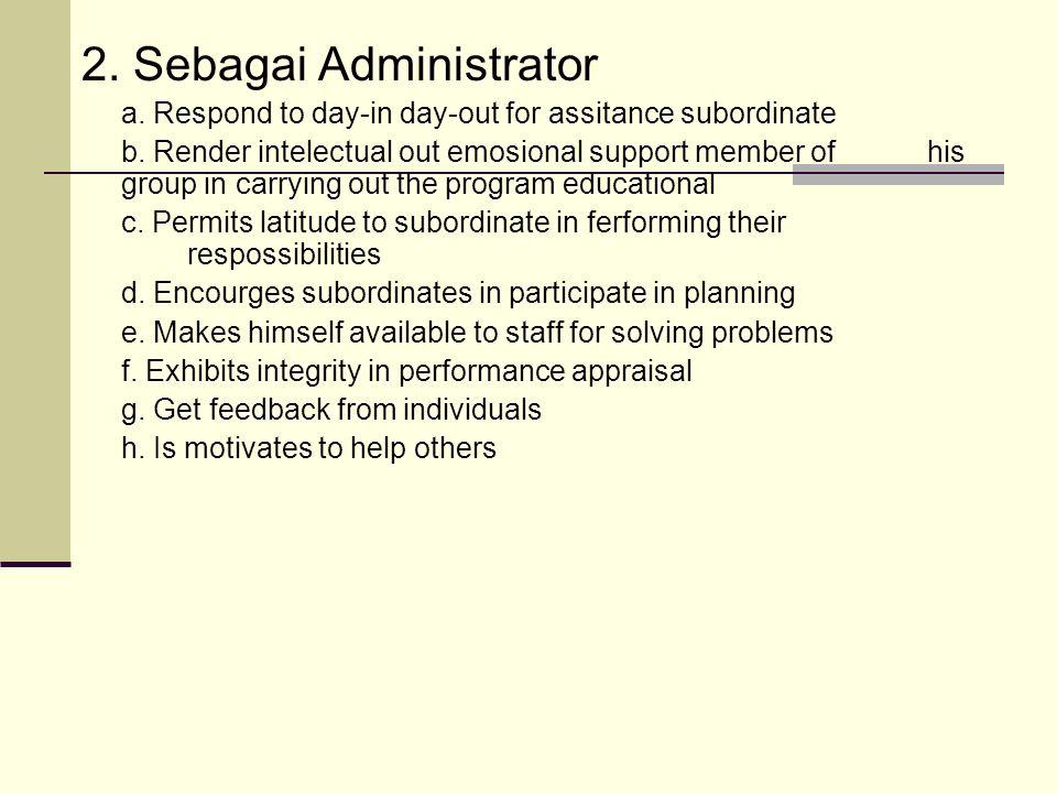 2. Sebagai Administrator