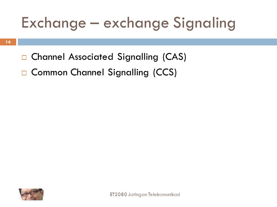 Exchange – exchange Signaling