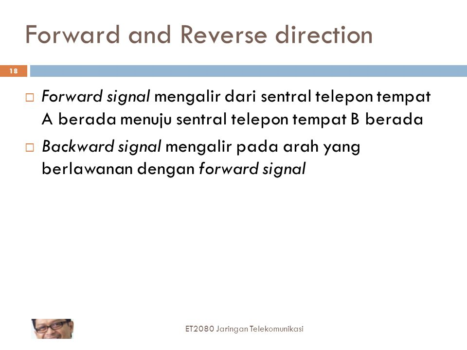Forward and Reverse direction