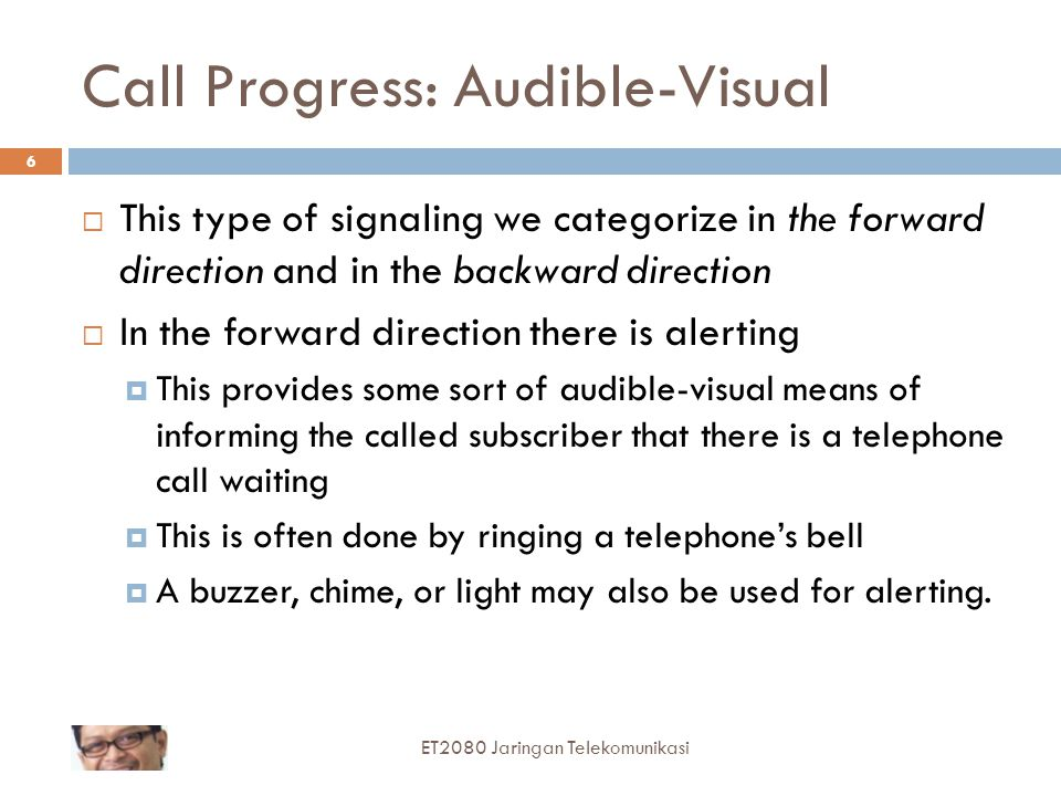 Call Progress: Audible-Visual