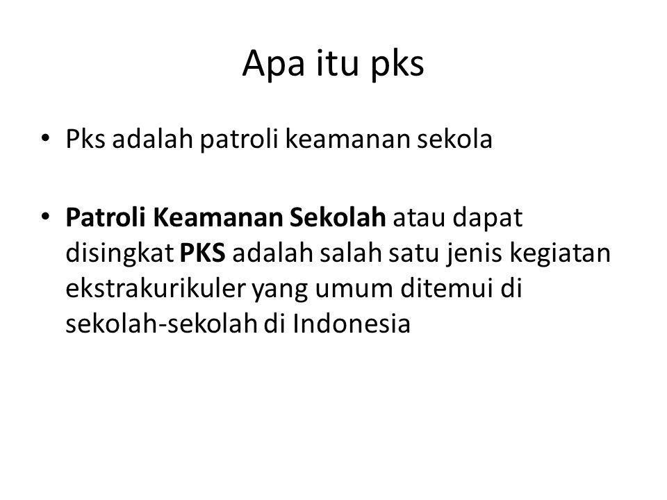 Apa itu pks Pks adalah patroli keamanan sekola