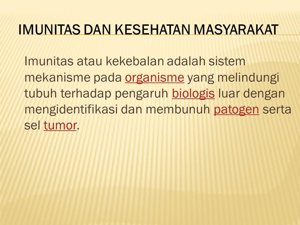 IMUNITAS DAN KESEHATAN MASYARAKAT