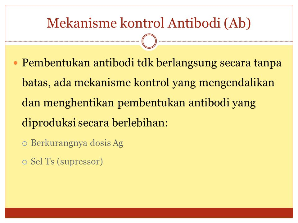 Mekanisme kontrol Antibodi (Ab)
