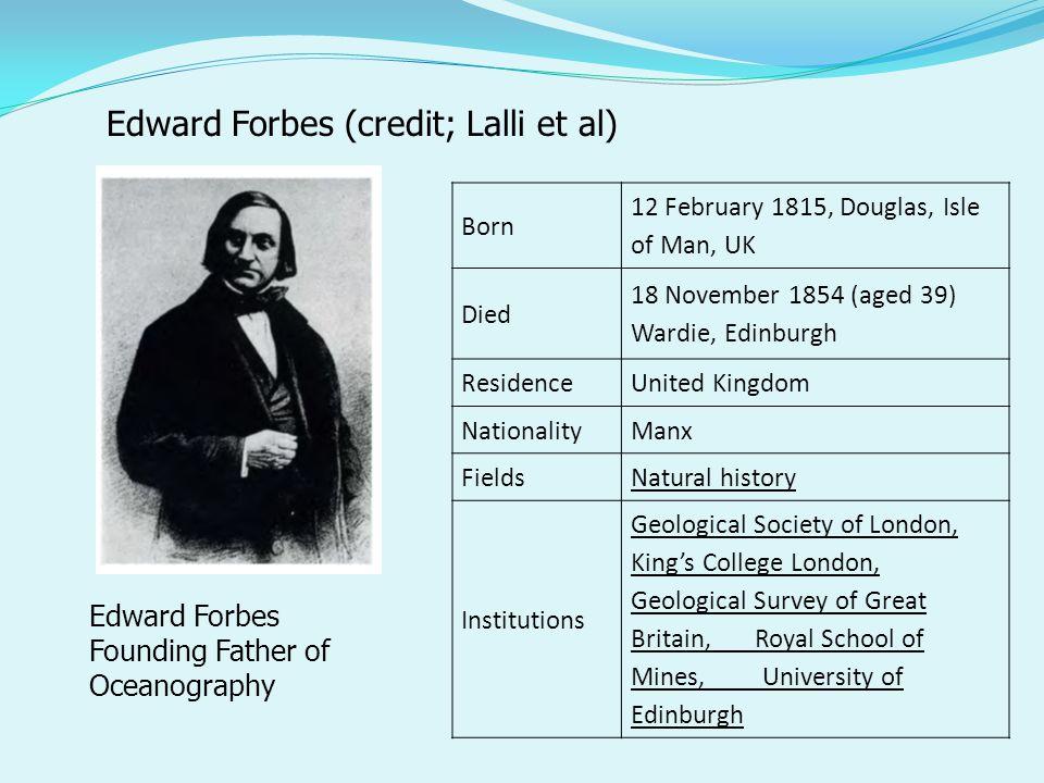 Edward Forbes (credit; Lalli et al)