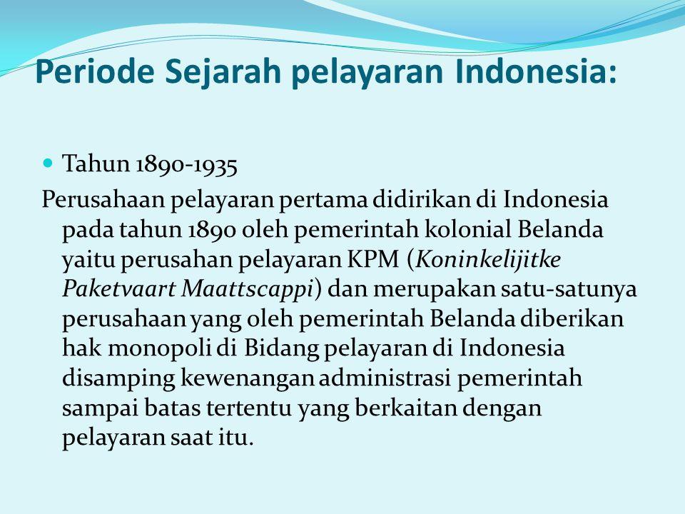 Periode Sejarah pelayaran Indonesia: