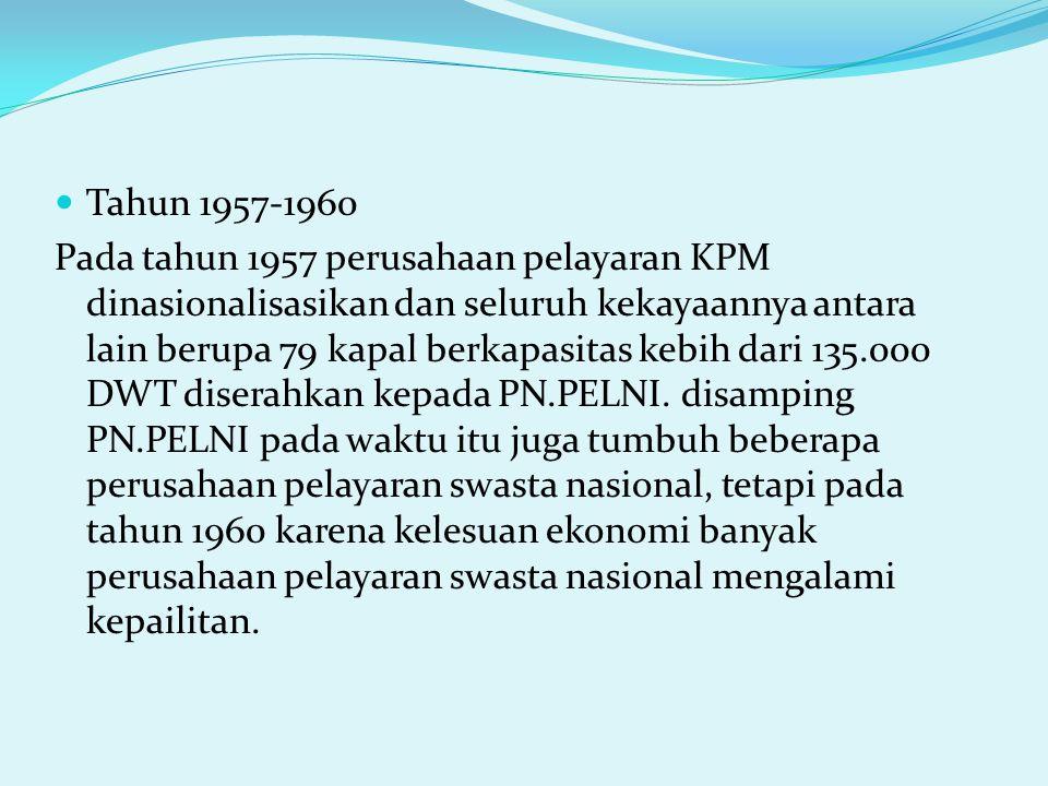 Tahun 1957-1960